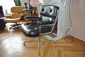 Fauteuil Charles Eames : fauteuil lobby chair charles eames l 39 atelier 50 ~ Melissatoandfro.com Idées de Décoration