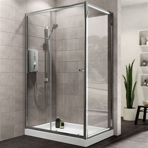 kitchen door furniture plumbsure rectangular shower enclosure with single sliding