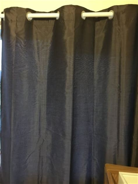 chocolate brown faux silk curtains 66x90 for sale in