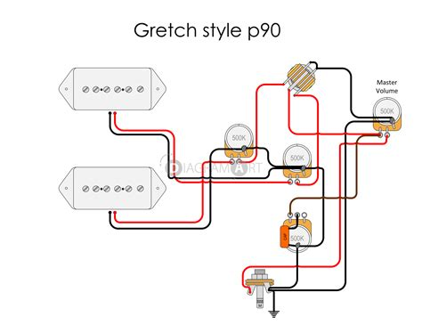 Le Paul Electric Guitar Wiring Schematic by Electric Guitar Wiring Gretch Style P90 Electric Circuit