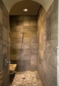 Master bathroom ideas walk in shower from pinterestcom for Bathroom showers designs walk in