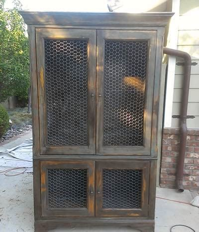 chicken wire mesh   cabinets french armoire