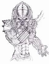 Predator Coloring Pages Drawing Alien Vs Print Sketch Face Drawings Sketches Predators Avp Easy Boys Mask Movie Green Animal Predetor sketch template