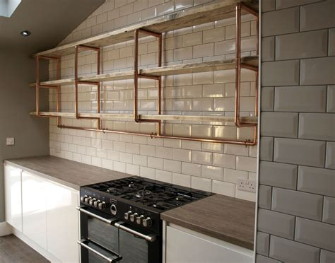 rustic bathrooms designs copper pipe reclaimed wood shelving