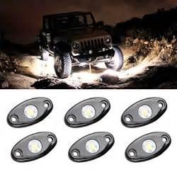 atv off road lights led rock light kits with 6 pods lights for jeep off road