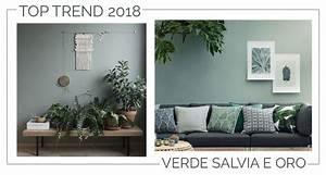 Tendenze 2018  Verde Salvia E Oro