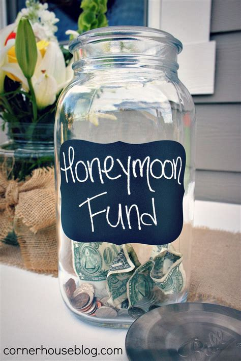 honeymoon fund jar at the bar since you re having an open