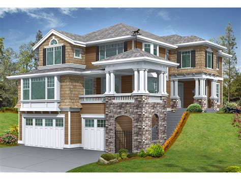 house plans for sloping lots gramercy place craftsman home plan 071d 0134 house plans