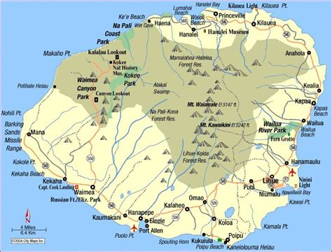 kauai map ideas  pinterest kauai hawaii