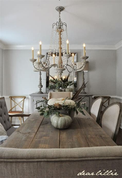 dear lillie  subtle fall touches   dining room