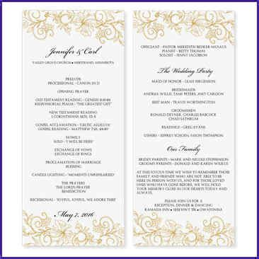 wedding program wording free downloadable wedding program template that can be