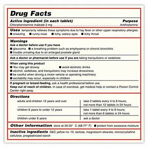 Otc Drug Facts Label