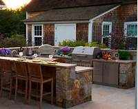 interesting small outdoor kitchen Amazing of Unusual Outdoor Kitchens With Stone Counter Ta ...