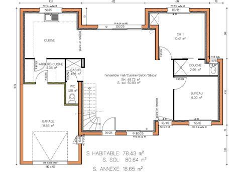 plan de cuisine gratuit pdf cuisine plan maison moderne plain pied gratuitjpg ã plans