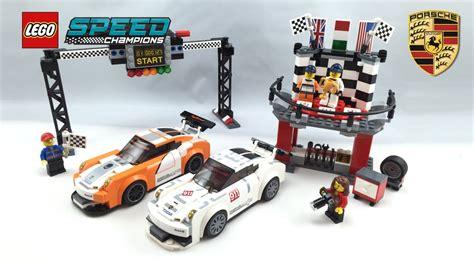 lego speed chions porsche lego porsche 911 gt finish line speed chions set review 75912
