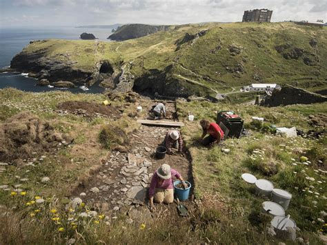 dark ages royal palace discovered  cornwall  area