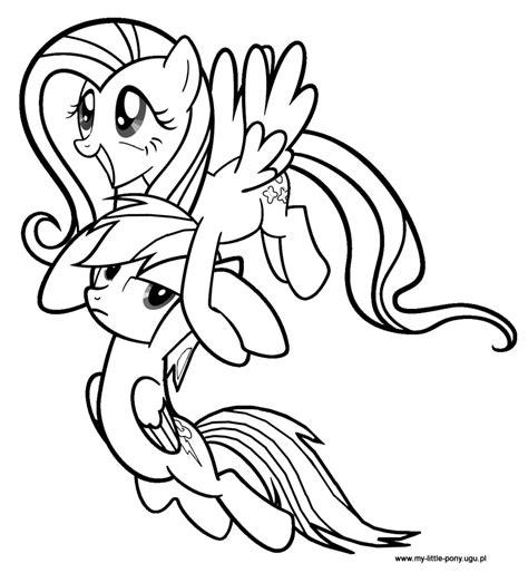Fluttershy Equestria Kleurplaat by My Pony Rainbow Dash Fluttershy Sketch Coloring Page