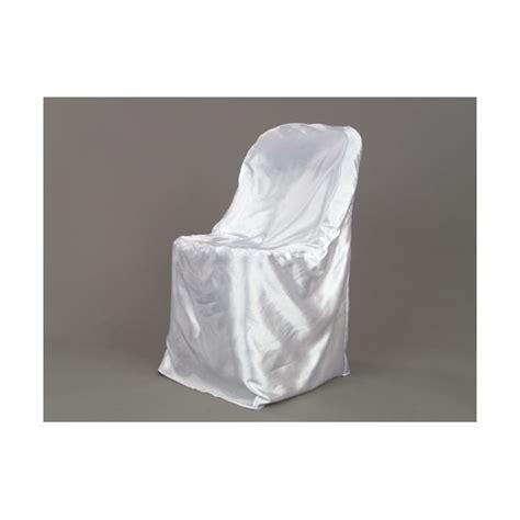 satin folding chair cover white depot