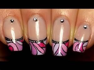 French Manucure Couleur : nail art french manucure mosa que color e youtube ~ Nature-et-papiers.com Idées de Décoration