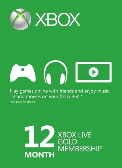 Xbox Live And Xbox Live Gold Buy Xbox Live Gold 12 Month Membership Xbox