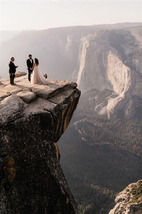 Adventurous Yosemite Elopement Sunrise At Glacier Point