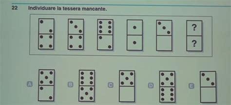 test d ingresso cattolica test ingresso cattolica sequenza di tessere domino
