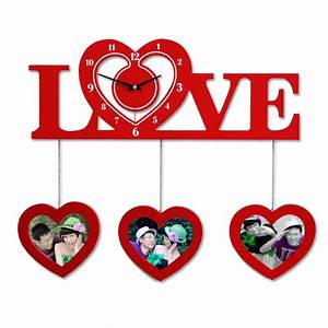 Creative Personality Photo Frame Love Wall Clock for
