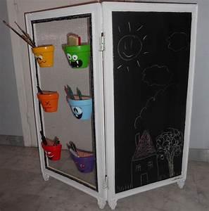 Paravent Chambre Bébé : petit paravent pour enfants avec tableau ardoise chambre d 39 enfant de b b par meubles a part ~ Teatrodelosmanantiales.com Idées de Décoration