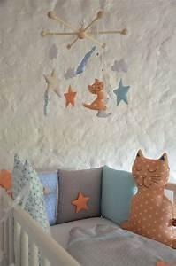 Tour De Lit Mixte : tour de lit chat brod main toile original pour b b ~ Teatrodelosmanantiales.com Idées de Décoration