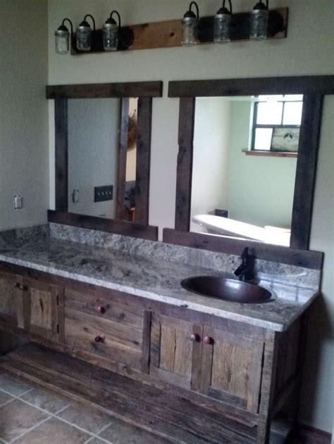 rustic double sink vanity your custom made rustic barn wood double vanity with 4