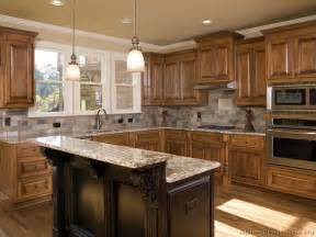 pictures of kitchens traditional two tone kitchen cabinets - Kitchen Cabinets And Islands