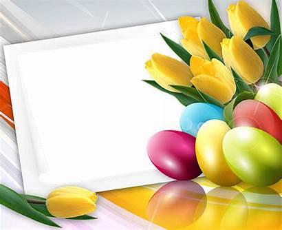 Easter Happy Spring Tulips Pasqua Frame Pasen