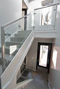 Rampe Pour Escalier : rampe d 39 escalier en verre garde corps net ~ Melissatoandfro.com Idées de Décoration