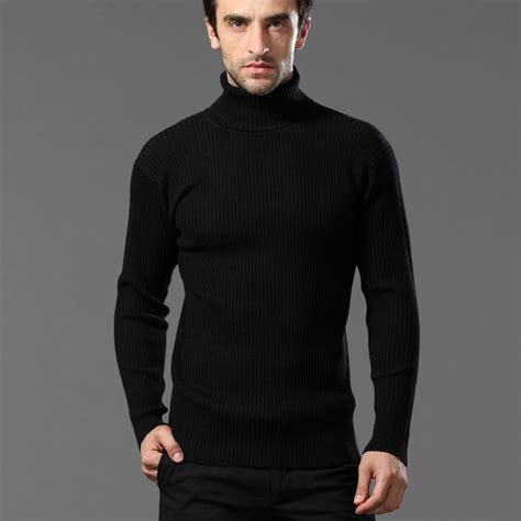 mens black sweater popular mens black turtleneck aliexpress