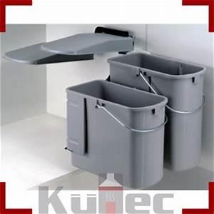 Mülleimer Küche Einbau : wesco kontainer junior einbau m lleimer 19 l u 10 l grau k che ebay ~ Markanthonyermac.com Haus und Dekorationen