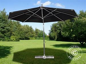 Sonnenschirm 4m Mit Kurbel : hanging parasol bahamas 4 m black incl parasol base dancovershop uk ~ Eleganceandgraceweddings.com Haus und Dekorationen