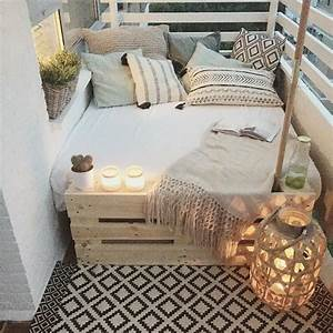 Sofa Für Balkon : 1001 ideen zum thema schmalen balkon gestalten und einrichten ~ Eleganceandgraceweddings.com Haus und Dekorationen