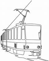 Coloring Train Electric Tramway Pages Trains Template sketch template