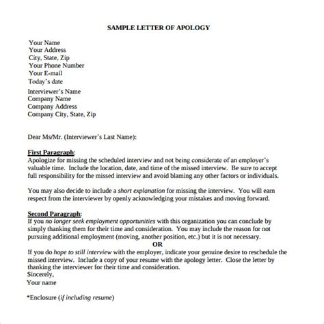 apologize letter format cover letter samples cover