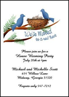 moving announcements housewarming invitations