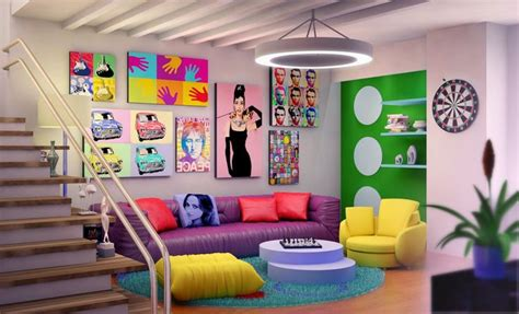 Interior , Pop Art Interior Design And Decor Ideas For Striking And Cheerful Look