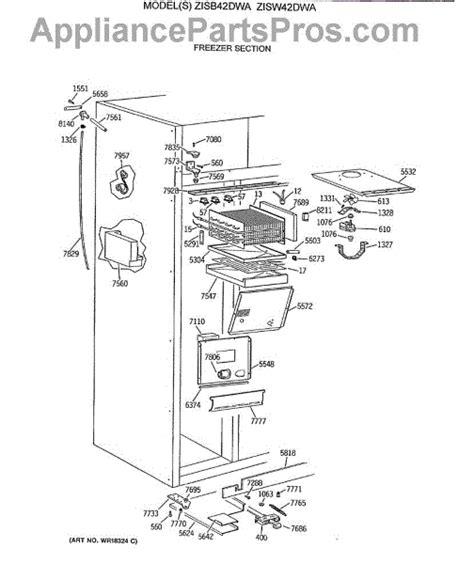 parts  ge ziswdwa freezer section parts