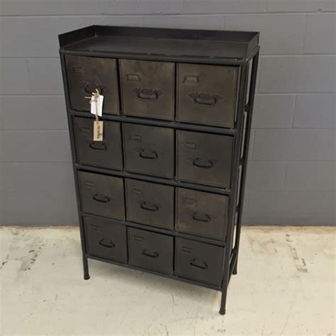 dresser industrial dresser with metal drawers nadeau columbia Industrial