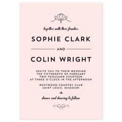 wording for wedding invitations modern deco wedding invitation crafty pie