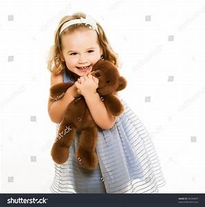 Little Girl Hugging Big Teddy Bear Stock Photo 30490879 ...