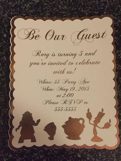 beauty   beast invitations   guest