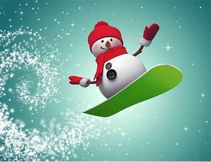 Snowman Snowboard Neige Bonhomme Jumping Sinclair Cade