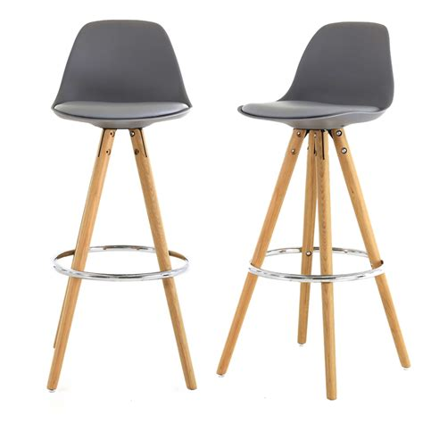 chaises de bar design chaises de bar circus grises absolument design