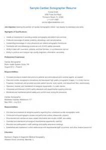 cardiovascular ultrasound tech resume resume sles sle cardiac sonographer resume