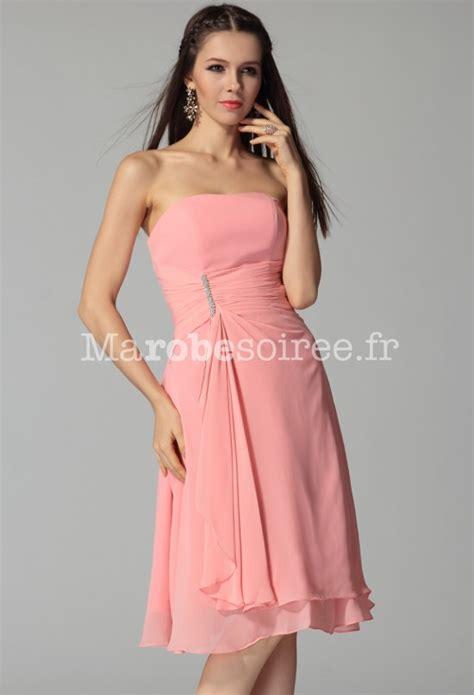 robe bustier pour mariage robe de soirée en mousselin esprit classique courte